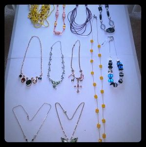 11 Beautiful Necklaces Lot .